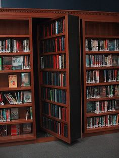 How to create a secret revolving bookshelf..a must have for a future home!