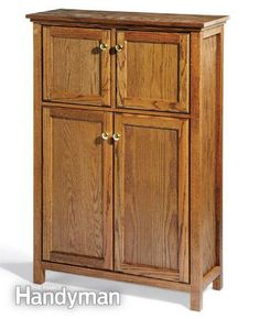 The secret to inexpensive DIY furniture is to start with kitchen cabinets! or garage storage!