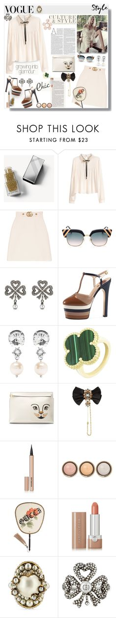 """""""Culture & Style ✨💋"""" by selmendonca ❤ liked on Polyvore featuring Burberry, Nicole, Gucci, Victoria's Secret, Fendi, Miu Miu, Van Cleef & Arpels, Loewe, Dolce&Gabbana and Hourglass Cosmetics"""