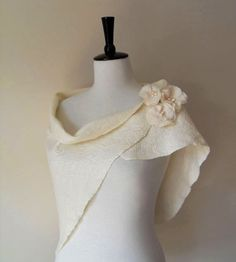 Bridal Shawl Bridal Wrap Shrug White Ivory Bridal by softadditions, £55.00