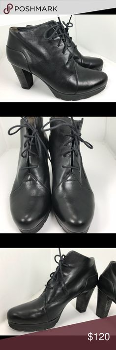 Paul green Black Lace Up Ankle Boots UK 4 US 7 These are preowned and have some wear, marks, and scratches. Please see all photos. Paul Green Shoes Ankle Boots & Booties