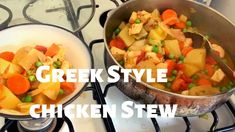 Greek Chicken and Lemon Stew Healthy Eating Recipes, Real Food Recipes, Family Meals, Kids Meals, Greek Style Chicken, Vegan Thanksgiving, Boneless Skinless Chicken, Freezer Cooking, Lemon Recipes