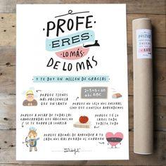 Lámina Profe, eres lo más de lo más. Diseño de Mr.Wonderful. A la venta en: http://www.mrwonderfulshop.es