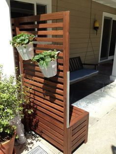 Materials: 2 Applaro benches and wall panels I wanted to add a privacy screen to my patio and I like the Applaro line. However, I realized the Applaro wall panels are meant to be attached to a wall in