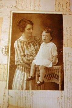 Beautiful Mother and Baby Vintage Photo by artsygemini on Etsy, $4.00