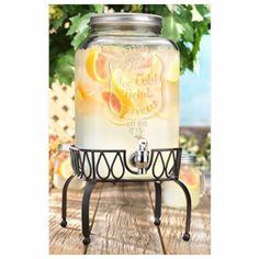 nice Home Essentials 4840 Del Sol Mason 2 Gallon Jug With Square Rack,  #HomeEssentialsJuicers&Blenders
