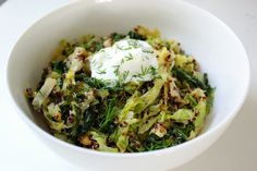 If you need a break from a weekend of heavy meals, then make this digestion-aiding lemony toasted quinoa and wilted cabbage dish.  Calories: 348 Photo: Leta Shy