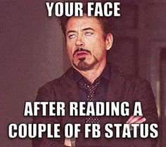 After reading a couple of facebook status