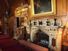 The Library - Tyntersfield - Wraxall - Somerset - England English Interior, Country Interior, English Architecture, Historical Architecture, Victorian Castle, Victorian Art, Sudbury Hall, Little Moreton Hall, Belton House