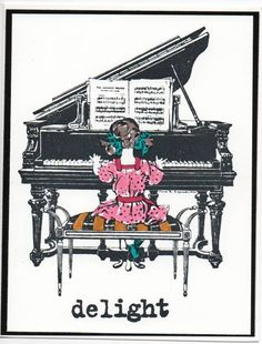 old fashioned piano girl