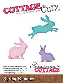 Cottage Cutz - SPRING BUNNIES - vyřezávací šablony - Pretty Papers