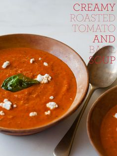 Creamy Roasted Tomato and Basil Soup