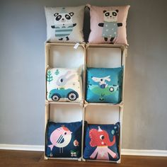 Cushions designed by Rebecca Sodergren.  Beautiful cushions, ideal for a child's bedroom, nursery or playroom.   They are available with matching lampshades.