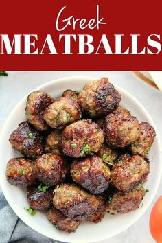 Greek Meatballs aka Keftedes are made with ground lamb (or beef, turkey, etc.) and seasoned to perfection. Serve these juicy meatballs with Tzatziki Sauce or simple tomato sauce. Ground Beef Meatballs, Greek Meatballs, How To Cook Meatballs, Best Turkey Meatballs, Greek Recipes, Meat Recipes, Healthy Recipes, Turkish Recipes, Meatball Recipes