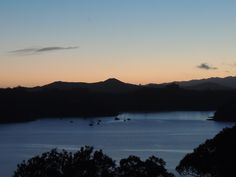 Sun Rise - Russell - Bay of Islands - New Zealand Picture taken from bedroom balcony Paihia - 1st October 2014 #sunrises #russell #bayofislands #paihia #newzealand