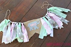 Elephant First Birthday Circus Party Banner Girl's by AmpersandGO