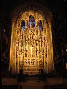 high alter and reredos at Saint Thomas (Episcopal), fifth avenue, nyc