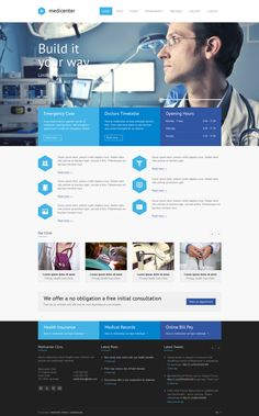 MediCenter - Responsive Medical WordPress Theme by QuanticaLabs , via Behance
