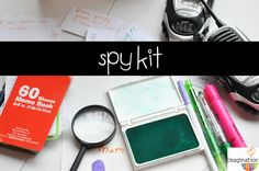 25 DIY Pretend Play Kits (Spy-Kit, coffee shop, hair salon, post office and many more) | Imagination Soup
