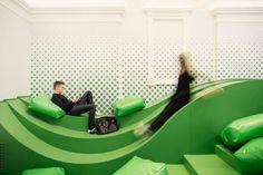 Architect firm Svet Vmes have designed School Landscape, an social area for students at the Ledina Grammar School in Ljubljana, Slovenia.