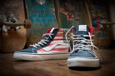 These American Flag Shoes by Vans California are a Patriotic Tribute #fourthofjuly #independenceday trendhunter.com
