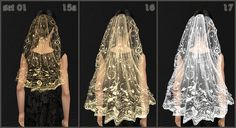 Mod The Sims - Fashion story from Heather. Wedding. Charm of Gothic. Veils (part 1)