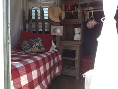 This is inside a horse trailer! Now this is camping with your horses!