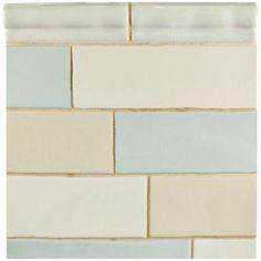 Merola Tile Alaska Craquelle Mix 3 in. x 12 in. Ceramic Wall Tile (4 sq. ft…