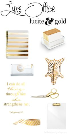 Luxe Office (Gold  & Lucite)