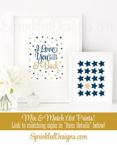 I Love You to the Moon and Back Printable Sign by SprinkledDesign