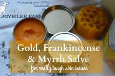 Make a powerful skin healing salve The three Wise Men brought gold, frankincense, and myrrh to Jesus/Yeshua when he was a young child, still in Bethlehem. The Frankincense and Myrrh were common healing spices used in embalming, and in ancient medicine. They were known for their ability to heal wounds and to stop decay. And …