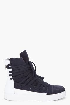 KRIS VAN ASSCHE Two Tone Leather Sneakers