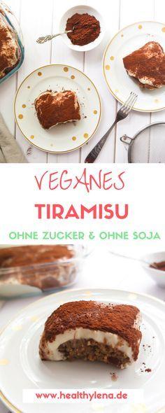 Veganes Tiramisu – Ich kann gar nicht genau sagen, wie lange dieses Rezept schon auf meiner 'To Do'-Liste stand. Gefühlt eine Ewigkeit! Jetzt habe ich es endlich geschafft ;) Herausgekommen ist ein veganes Tiramisu, das optional glutenfrei und ohne Soja ist sowie komplett ohne raffinierten Haushaltszucker auskommt. Healthy Sweet Treats, Healthy Cake, Vegan Treats, Vegan Desserts, Vegan Recipes, Vegan Food, Cake & Co, Eat Dessert First, Food Inspiration