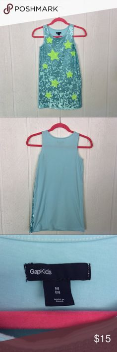 """GAP KIDS BLING SPARKLE DRESS Adorable festive dress perfect for your Fourth of July day party!  Bust measures 13"""", overall length is 28 inches long. Fully lined. Back of the dress is 100% cotton. Perfect condition. gap kids Dresses Casual"""
