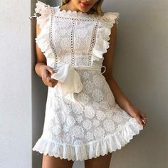 2019 Summer Women Lace Dress Sexy vestidos Beach Fashion Sleeveless Cute Party Dresses Gift New Fashion Sexy Party Strap White Elegant Dresses For Women, Sexy Dresses, Fashion Dresses, Mini Dresses, Couture Dresses, Casual Dresses, Vestidos Retro, Cute Dresses For Party, White Fashion