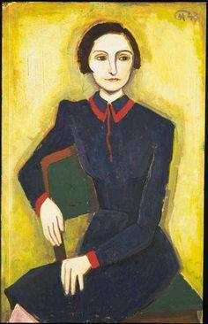 peira:    Karl Hofer: Portrait Elisabeth Hofer (1943) via Galerie Andreas Baumgartl