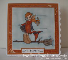 OOAK  Come Fly With Me HALLOWEEN card by IonaRose on Etsy, £2.25