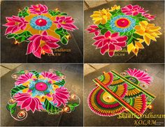 #pink#yellow#green#blue#lotus#kolam
