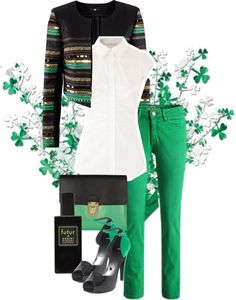 """""""My Black and Green"""" by weeyz ❤ liked on Polyvore"""