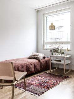warm colors make for a cozy space