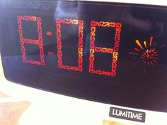 VINTAGE Tamura Lumitime Electric Neon Digital Clock rare scroll display FREE sh