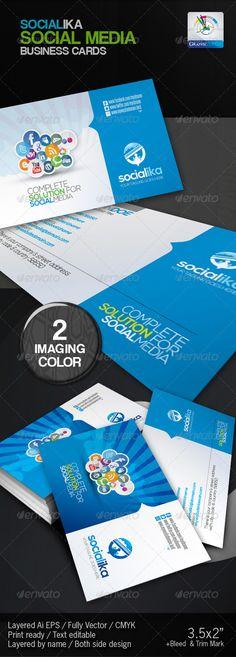 Socialika Social Media Business Card - Business Cards Print Templates
