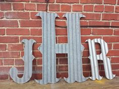 Kansas Barn Tin Letters 15inch by whattawaist on Etsy, $13.00