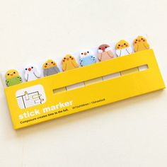 Sticky Notes / Stick Marker bird by pikwahchan on Etsy