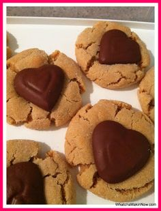 Peanut Butter Kiss Cookies #recipe #valentinesday