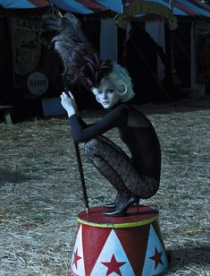 The Terrier and Lobster: American Manhasset Fall/Winter 2006 Ad Campaign: Jessica Stam and Gabriel Aubry at the Circus by Laspata Dacaro Dark Circus, Jessica Stam, Circus Theme, Circus Party, Circus Circus, Circus Show, Circus Photography, Fashion Photography, Photography Ideas