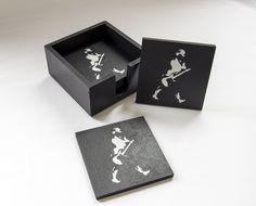 Porta Copos - Keep Rocking - Pietro Artesanatos Cup Holders, Handmade Crafts, Houses