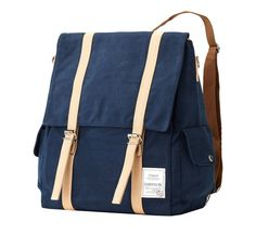 Compact & cute backpack for daytime activity      Color: Navy  Size: 32cm(W), 41cm(H), 15cm(D)    3 colors are available: Navy, Yellow, Khaki    * 2