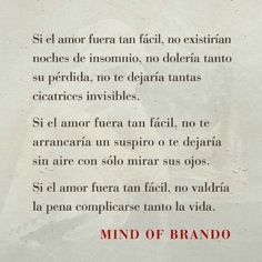 Si el amor fuera fácil. Mind of Brando