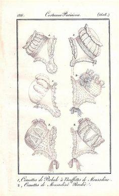 Caps, 1816 costume parisien